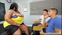 Screenshot Busty Black  BBW Teacher Fucks 2 Hung Stud Students