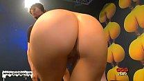 Elise getting wild in bukkake orgy thumbnail