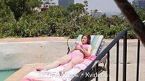 SPYFAM Pervert Stepbro Stalks Step Sister While Sun Bathing