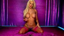 Horny Blonde Lolly telephone sex in pink lingerie Vorschaubild