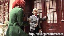 granny licking granny