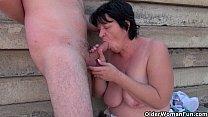 Ugly grandma with 1 inch nipples fucked outdoors Vorschaubild