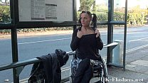 Paraprincess public nudity and handicapped pornstar flashing