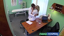 FakeHospital Naughty blonde nurse gets doctors full attention porn image