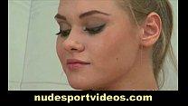 Amateur blonde does naked exercises pornhub video