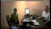 Moroccan slut Jamila tried lesbian sex with dutch girl(Arabic subtitle) thumbnail