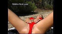 blond teen naked at beach - accelerando hentai thumbnail