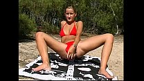 blond teen naked at beach