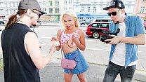 BUMS BUS - German teen blonde Gabi Gold picked ... Thumbnail