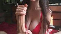 BunnyButt handjob-cum on tits