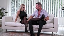 Busty lovers crave Florane Russell's sexy feet being fucked & jizzed on - download porn videos