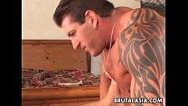 Beautiful bubble butt Asian pornstar getting fucked hard thumbnail