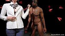 Blonde domme anal fucks black male slave pornhub video