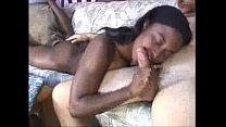 Sexy ebony girlfriend sucking and fucking