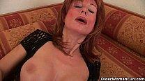 Redheaded grannies in lust fuck a dildo - download porn videos