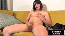 Femboy beauty tugs on her big hard cock />                             <span class=