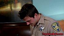 Cop muscly pornstar suck