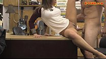 Brunette babe railed by nasty pawn dude