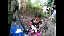 BANGLADESHI VILLAGE GIRL BATH thumbnail