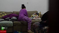 Eating cock in pajamas