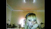 Tiny blonde teen dance on webcam [웨딩신부 bride]