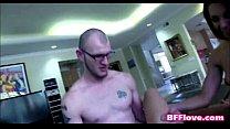2 Teen Best Friends Seduce Male Study Buddy - BFFlove.com صورة
