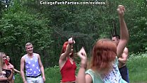 Filthy college sluts turn an outdoor party into wild fuck fest scene 3 - 9Club.Top