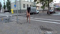 Completely nude in public. Nude on city streets's Thumb