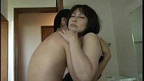 Mature beautiful Asian with big tits fucks with a young man thumbnail