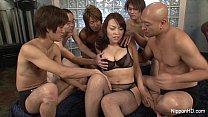 Busty Asian Gangbanged
