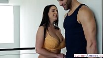 Angela White's big natural tits take over! Naughty America