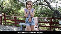 MyBabySittersClub - Petite Baby Sitter Caught Masturbating Thumbnail