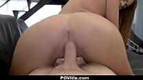 Hot Athletic Teen Tricks Neighbor Into Fucking Her POV thumbnail