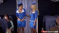 Stewardess Helly Mae caught rubbing her pussy o...