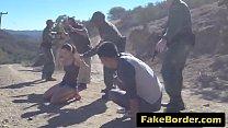 Fake border patrol puts law in his big cock sentenced teen amateur pussy outdoor