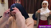 Hot Muslim Besties Feasting And Sucking A Big Cock