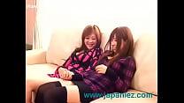 Japanese Big Boob Lesbians Make Out and Strip thumbnail