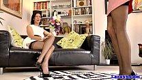 Two british matures in lingerie dyke fun Thumbnail
