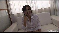 Cute Yuu Sakura in a white shirt skull fucked and cum blasted thumbnail