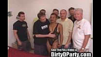 Hot Ebony Kaitlyn's 7 White Cock Bukkake Gangba...