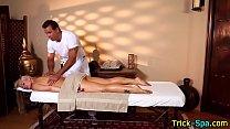 Blonde babe ass massage
