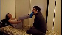 Asian girl gets her socks and feet worshipped -...