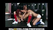 Two HOT lesbian cheerleaders start an orgy in the locker room thumbnail