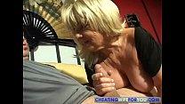 Mature big boobs blonde gives a blowjob pornhub video