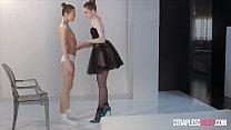 Ballerinas Mia Reese and Rossy Bush Have Strapless Dildo Fun thumbnail