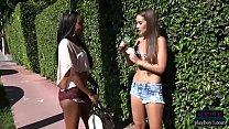 Amateur chicks ride a dildo balloon pump for money image