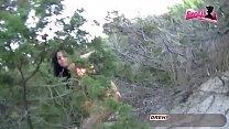 Deutsche Ebony teen 18 - Outdoor Sex am Mallorca beach Vorschaubild