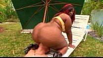 fat ass black woman rides a white dick