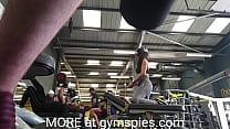 Fit brunette teen working out in the gym with a great ass and camel toe filmed spy cam style. From gymspies.com