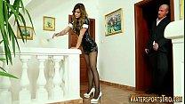Latex maid golden shower